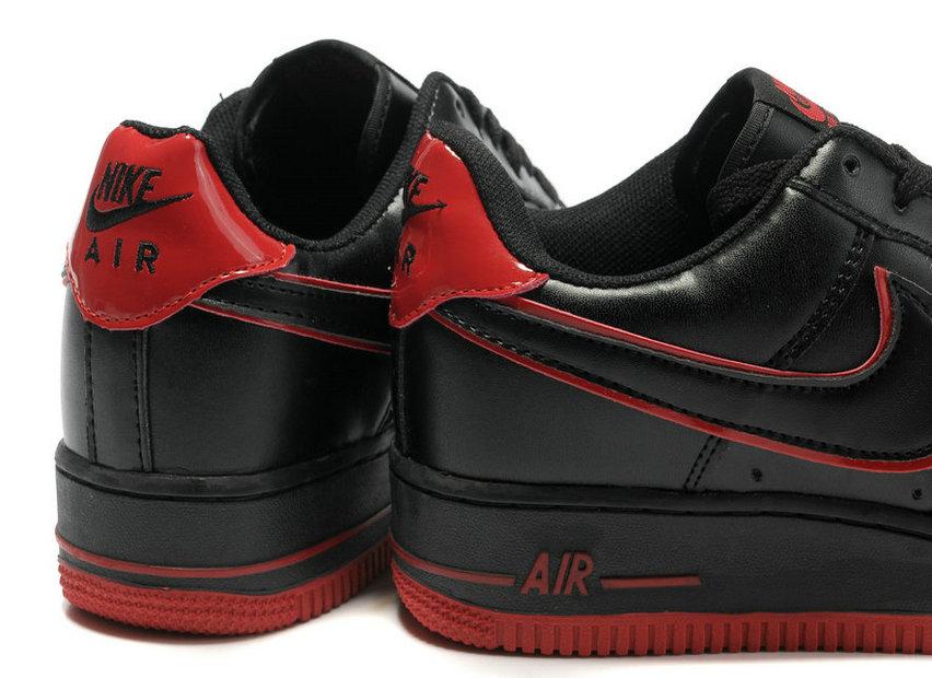 watch 2ab4c c8bde Mens Nike Air Force 1 30th Anniversary Black Red [31269] - $76.80 ...