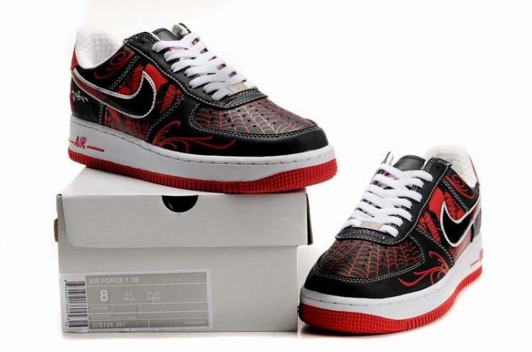 get cheap 9d001 728ce Mens Nike Air Force 1 Mr Cartoon Black Red [16969] - $65.50 : Nike ...
