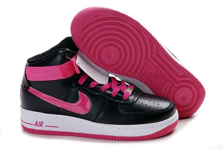 half off 62f9b d81c0 Womens Nike Air Force 1 25th High Shoes Black Pink