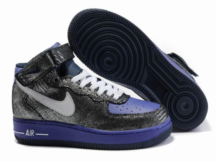 5669f9b2c29 Womens Nike Air Force 1 25th High Shoes Chap Purple Black  4148 ...