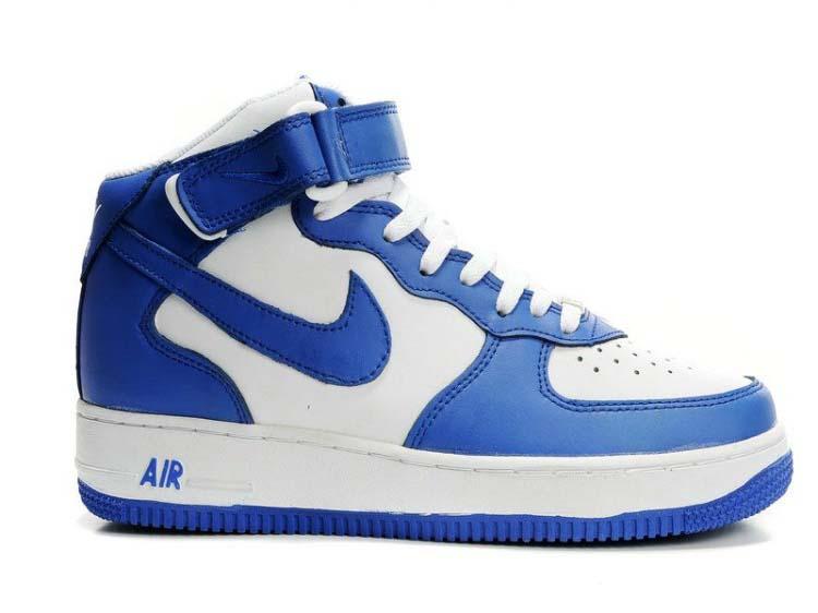 Womens Nike Air Force 1 Mid WNS Blue White Blue  13653  -  63.50 ... 2f2c871f20